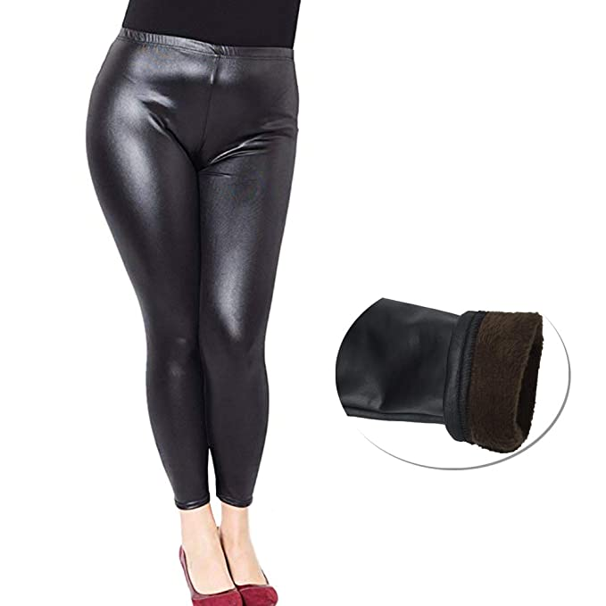 12c24268e3df7 Just For Plus Fashion Women s Faux Leather Pants Legging Plus Size High  Waist Full Length
