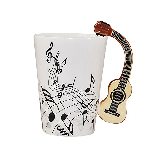 Musical Design Ceramic Coffee Guitar