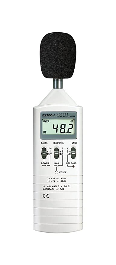 Extech 407736-NIST Sound Level Meter with NIST