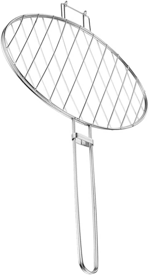 UPKOCH Fish Grill Basket for Fish Vegetables Steak Shrimp Chops and Many Other Food (Size S)