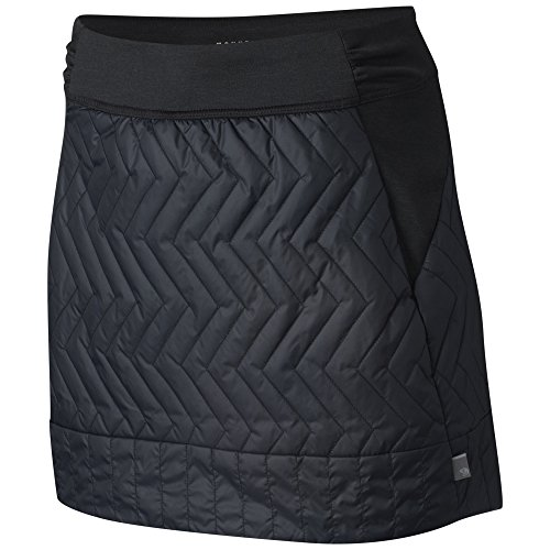 Mountain Hardwear Womens Trekkin Insulated Wind-Resistant Mini Skirt for Outdoor Activities and Running - Black - Small