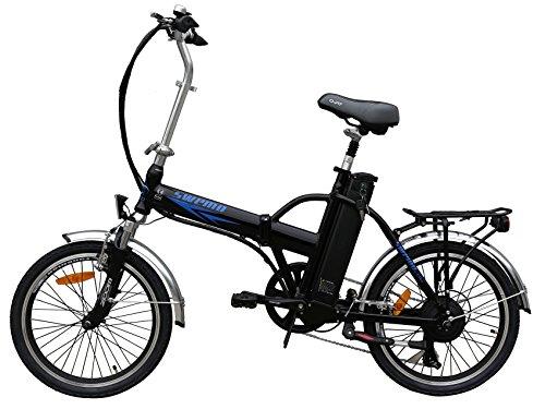 20 Zoll SWEMO Alu Klapp E-Bike / Pedelec SW100 Modell 2016 Neu (Schwarz)