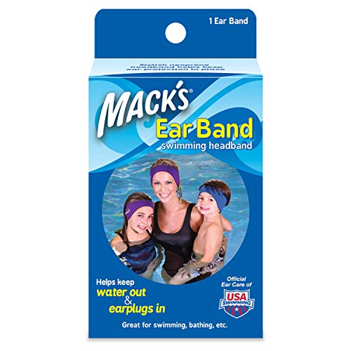- Mack's Ear Band Swimming Headband - Best Swimmer's Headband - Doctor Recommended to Keep Water Out and Earplugs in