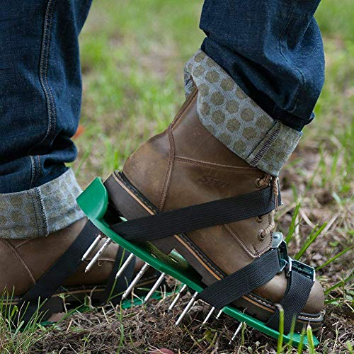 SiGuTie Lawn Aerator Shoes, Spiked Lawn Aerating Sandals Heavy Duty Garden Tool Metal Buckles 3 Adjustable Straps Universal Size Aerating Garden Yard, Extra Wrench Instructions by SiGuTie (Image #5)