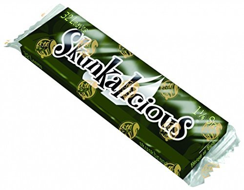 Skunk Brand Skunkalicious Sweet Flavored Rolling Papers - 1 1/4 Size (6) (Rolling Papers Skunk)