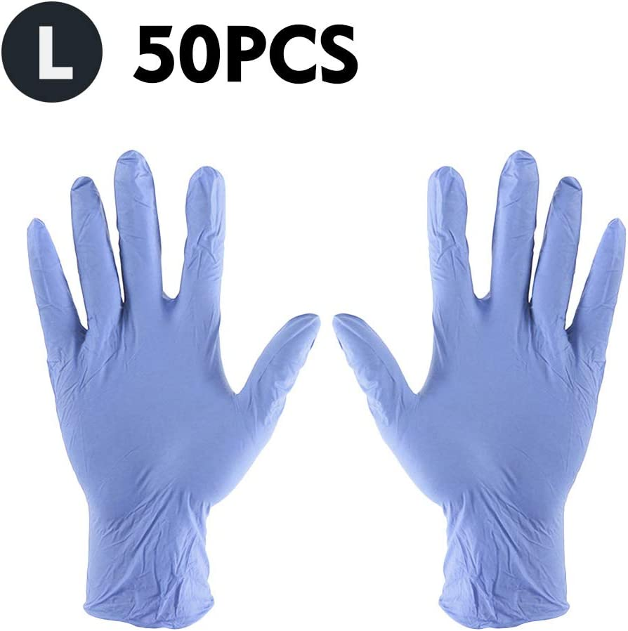 xl,color blanco KKmoon Guantes Desechables,50pcs Guantes El/ásticos sin polvo para Dom/éstico en Laboratorio
