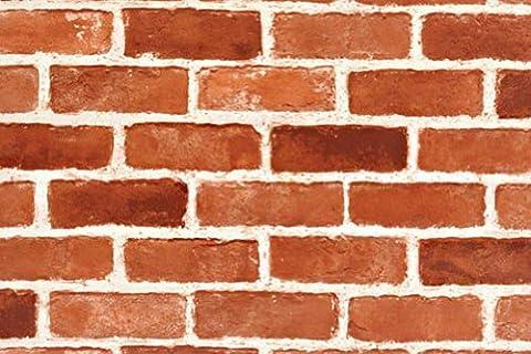 Peel & Stick Brick Pattern Contact Paper [DBS-12 : 60cm(1.96 ft) X 300cm(9.84 ft)] Self-Adhesive Multipurpose Shelf Liner