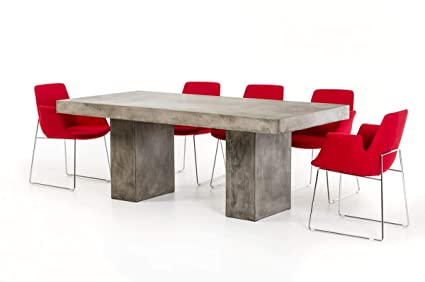 Amazon.com - HomeRoots Modern Concrete Dining Table - Tables