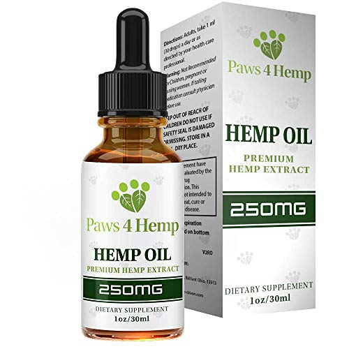 Hemp Oil for Dogs - Anxiety Relief & Joint Support - Amazing for Joint Health and Arthritis - Rich in Omega 3 & 6 Fatty Acids - 1 FL oz - Pawz 4 Hemp