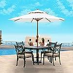Nfudishpu-Ombrelloni-Tavolo-da-Giardino-Esterno-Ombrello-da-Tavolo-da-Giardino-Ombrelloni-Portatili-per-Piscina-Coperta-Cortile-Piscina-Spiaggia-Tondo-27M-Colore-Khaki-Colore-WinRed