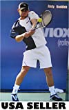 Andy Roddick playing tennis POSTER 23.5 x 34 Wimbledon runner-up (sent FROM USA in PVC pipe)