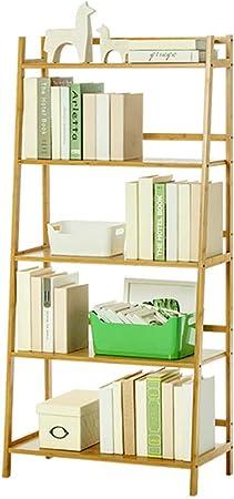 FEI Estantería Estante de Libros, Estante Libre de la Escalera Exhibición de almacenaje del Estante para