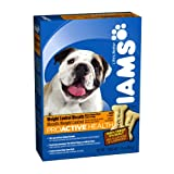 Iams Proactive Health Weight Control Biscuits Adult Dog, 24-Ounce Boxes (Pack of 6), My Pet Supplies