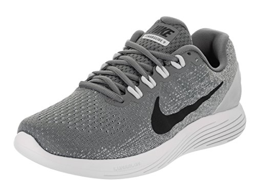 Nike Women's Lunarglide 9 Cool Grey/Black Pure Platinum Running Shoe (10) by NIKE