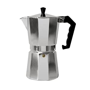 Primula Aluminum Espresso Maker - Aluminum - For Bold, Full Body Espresso – Easy to Use – Makes 9 Cups