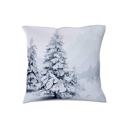 Charzee - Funda de cojín con impresión de Nieve, Lavable ...