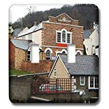 3dRose Jos Fauxtographee- llangollen Wales School Home - Some homes and a Brittish School in Llangollen Wales - Light Switch Covers - double toggle switch (lsp_294500_2)