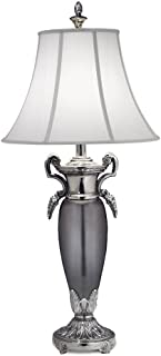 product image for Stiffel TL-6742-6744-PNB One Light Table Lamp, Black Antique/Black Nickel Finish with Off White Silk Shade