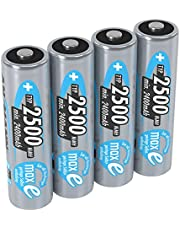 ANSMANN AA 2500 mAh Rechargeable Batteries, 5035442-590-1, LSD Low Self Discharge, Pre-Charged, High Performance 2500mAh AA 1 Pack Silver
