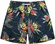 MADHERO Men Stretch Swim Trunk Floral Bathing Suit Without Mesh Lining