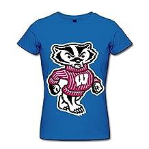 QMY Women's NCAA Wisconsin Badgers Football Team Logo Slim Fit Hot Topic T-shirts
