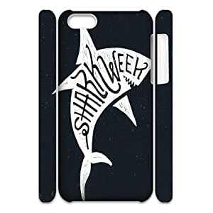 T-TGL(RQ) Iphone 5C 3D Cell Phone Case Shark Week with Hard Shell Protection