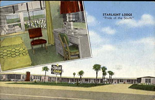 Starlight Lodge, P. O. Box 158 Ormond Beach, Florida Original Vintage Postcard -