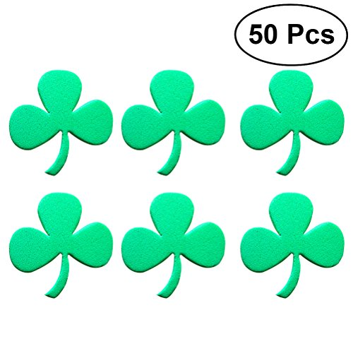 f2a798dcde9 LUOEM St. Patrick s Day Party Stickers St. Patrick s Day Shamrock Party  Favors Irish Foam