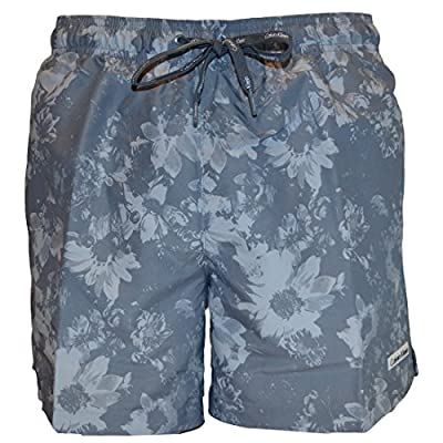Calvin Klein Mens Core Floral Medium Drawstring Swimshort