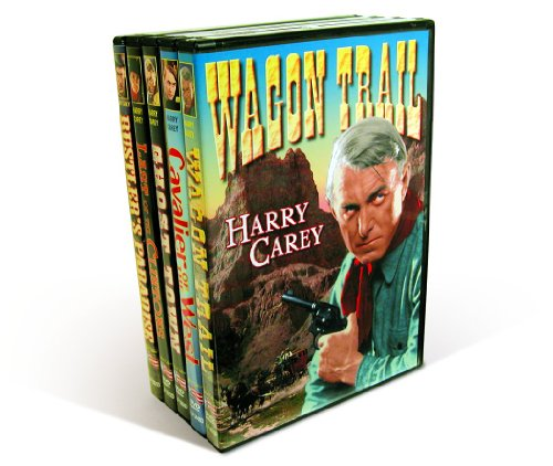 Cavalier Wagon - Carey, Harry Collection: Wagon Trail (1935) / Cavalier of The West (1931) / Ghost Town (1936)  / Last of the Clintons (1935) / Rustler's Paradise (1935)