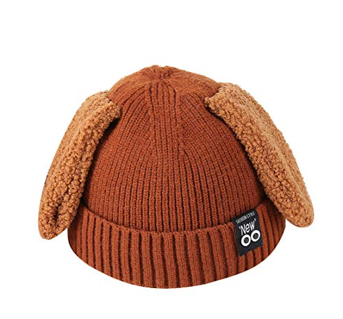 ACVIP Little Girl's Floppy Bunny Ears Cold Weather Skull Cap (Caramel) by ACVIP