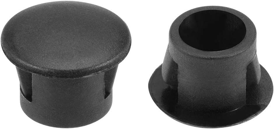 uxcell Hole Plugs Black Plastic 8mm Snap in Locking Hole Tube(7.5-8mm) Steel Furniture Fencing Post Pipe Insert End Caps for Fitness Equipment 100 Pcs