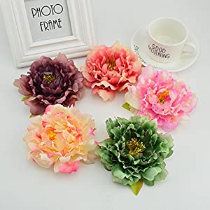 XGM GOU 10Pcs 12CM Silk Peony DIY Fake Roses Christmas Wedding Car Home Decoration Accessories Artificial Flowers Bride's Bouquet 23