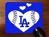 Go Dodgers We Love LA Desktop Office Silicone Mouse Pad by Debbie's Designs