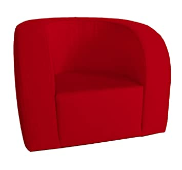 Arketicom Luna Senior, Confortable y Ligera Butaca Contemporanea en Poliuretano, Tapizado a Mano en Mixto Algodon Poliester Color Rojo Medidas cm 65x70x80: ...