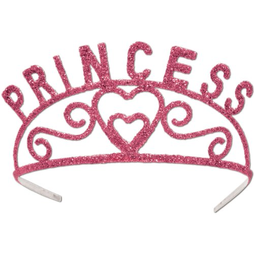 Glittered Princess Tiara (pink) Party Accessory  (1 count) (1/Pkg) for $<!--$11.89-->