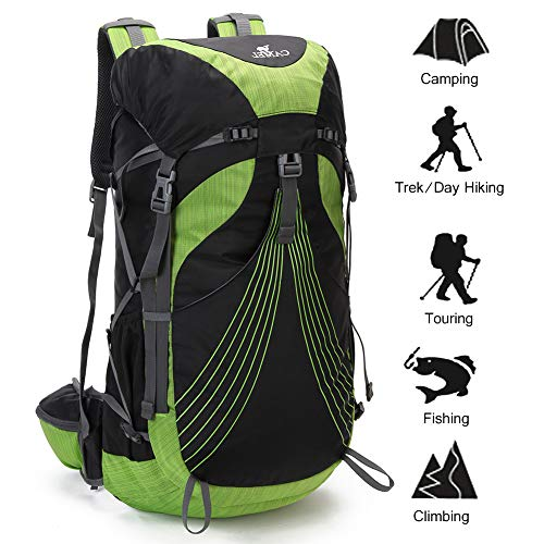 CAMEL CROWN 4000 Hike Backpack for Women and Men Professional Hiking Backpack Internal Frame Backpack Water Resistant Outdoor Daypack, Sewn-in Rain Cover …