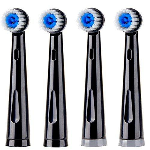 Compatible KIPOZI Rotating Electric Toothbrush Replacement Brush Heads, Electric Toothbrush Heads for KIPOZI RotaryToothbrush(only for Models of KI-2205), Soft Bristle,4 Pack