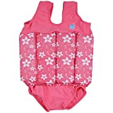Splash About Collections Float Suit - Adjustable Buoyancy, 1-6 Years (2-4 Years (Chest: 56cm Length: 40cm)), Pink Blossom