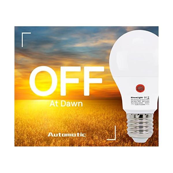 Lampadina a LED con doppio sensore di luce solare • 9 Watt • dal tramonto all'alba • ON/OFF automaticamente • 2 Pezzi… 3 spesavip