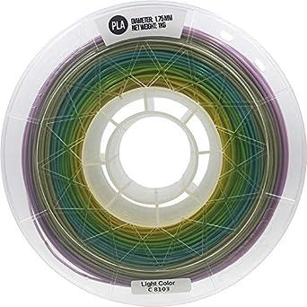 CCTREE filamento PLA para impresora 3D, 1.75 mm, multicolor, grado ...