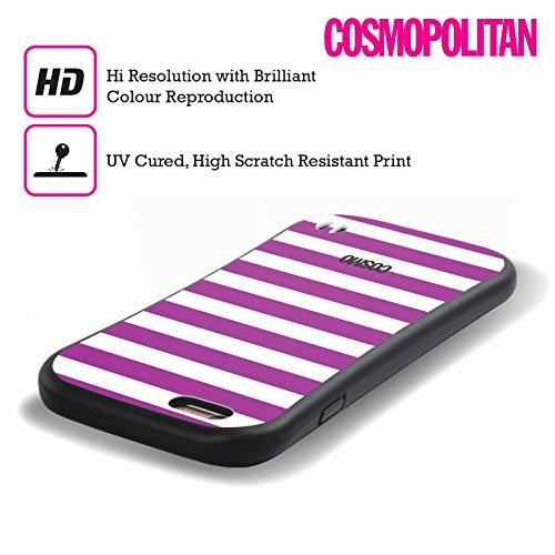 Official Cosmopolitan Violet Stripes Collection Hybrid Case for Apple iPhone 6 Plus / 6s Plus