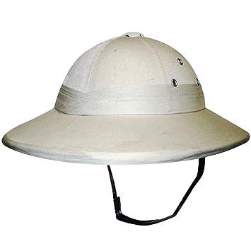 DELUXE SAFARI JUNGLE HAT HARD PITH HELMET FANCY DRESS (gorro sombrero) 00890fb360e