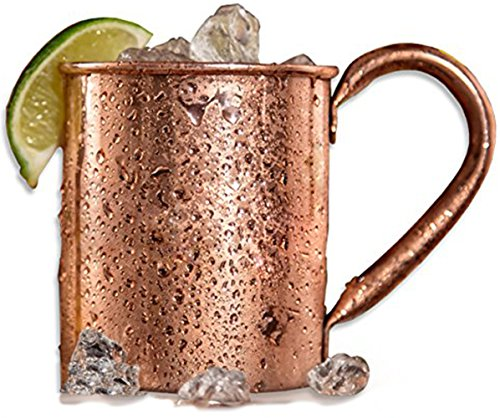 Copper Cup-Best for Valentines Day Gifts for Him and Her,for Husband,Retirement Gifts for Men,Moscow Mule Copper Mug.Unlined Premium Handcrafted Solid Copper Mug 16 oz