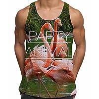 Animal Party Flamingo Bird Summer Ibiza Holiday Sunny Beach Gym Vest - L