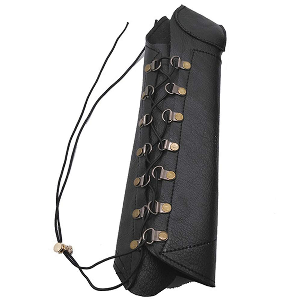 Eickawa Tir /à larc Prot/ège-Bras en Cuir PU Bracelet r/églable Unisexe Protection Bras Garde Chasse Cible Arc