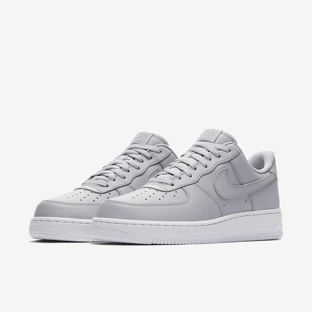 Nike Air Force 1 07, Baskets Homme, Gris Wolf Grey White 010