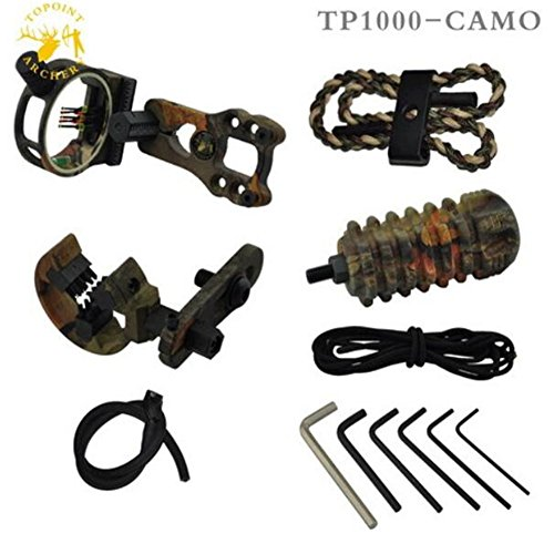 Isafish Archery Compound Bow Accessory Set String Shock Absorber Bow Aiming Accessories Camouflage