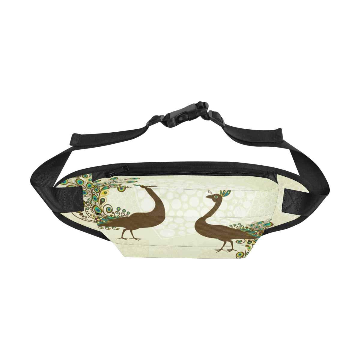 Colorful Peacock Sport Waist Pack Fanny Pack Adjustable For Travel