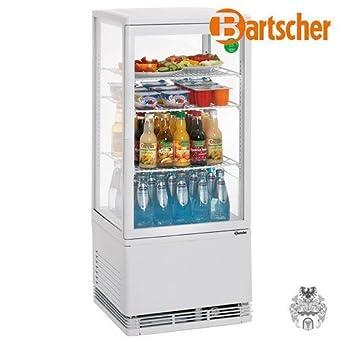Bartscher mini nevera vitrina 78L blanco 84185019 Art, 700178 G ...